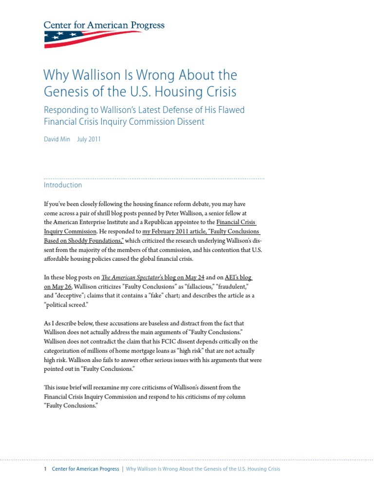Genesis My Chart >> Why Wallison Is Wrong About The Genesis Of The U S Housing Crisis