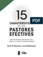 15 Caracteristicas Para Un Pastor Efectivo
