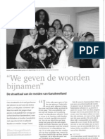 Artikel Onze Taal - Straattaal Meisjes Kanaleneiland Utrecht
