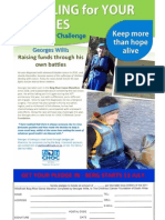 Choc Cancer Challenge Flyer With Pledge Form
