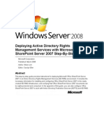 Deploying Active Directory Rights Management Services With Microsoft Office Share Point Server 2007 Step-By-Step Guide