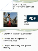 despite economic growth, india is unable to provide services to its poor