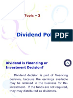 Topic 3 Dividend Policy 1