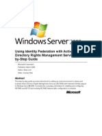Using Identity Federation With Active Directory Rights Management Services Step-By-Step Guide