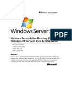 Windows Server Active Directory Rights Management Services Step-By-Step Guide