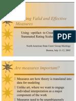 Optifact Summated Scales