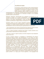 Mercado de trabajo y las políticas de empleo