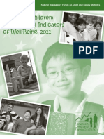 America's Children Key National Indicators of Well Being, 2011