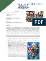 BlazBlue Continuum Shift - Info y Personajes