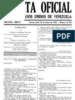 GACETA OFICIAL DE LOS ESTADOS UNIDOS DE VENEZUELA Nro. 23792 (24/03/1952)