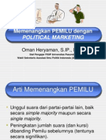 Memenangkan Pemilu dengan Political Marketing