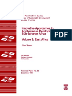 Innovative Approach to Agribusiness Dev in Sub Saharan Africa
