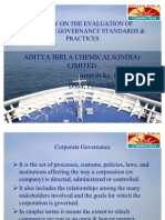A Study on the Evaluation of Corporate Governance