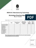 Workshop Practical Manual