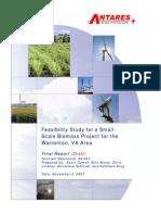 FINAL REPORT Draft Warrenton Biomass Project