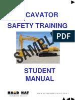 Excavator Student Manual