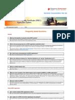 FAQ for EPEC Application