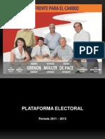 Plataforma electoral 2011-2015