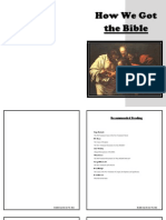 How We Got the Bible Workbook