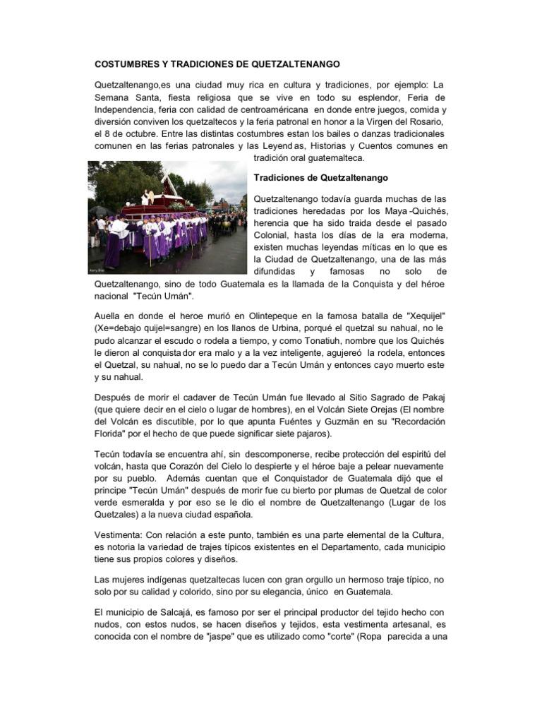 c6734f76d Costumbres y Tradiciones de Quetzaltenango