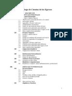 Catálogo de Egresos