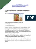 Artículo - Guerra de la industria farmacéutica