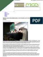 12-07-11 Zona Publica - Mexicanos Insatisfechos Con Politicas Economic As_ Cano Velez