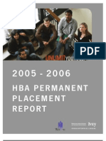 2006 Ivey HBA Placement Report