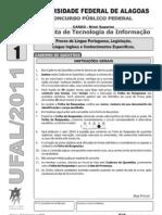 Copeve Ufal 2011 Ufal Analista de Tecnologia Da Informacao Prova