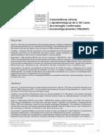 Características clínicas y epidemiologicas meningitis