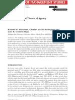 Toward a Social Theory of Agency