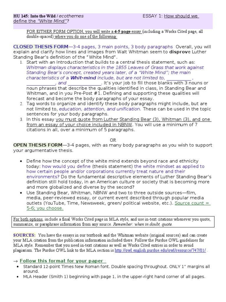 Hu145 Unit 1 Paper Sp11 1 Citation Essays