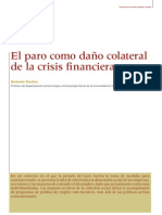 el paro como daño colateral de la crissis financiera (Antonio Santos)
