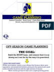 Coverdale Off Season Game Planning