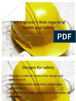 Civil Engineer's Role regarding Health and Safety