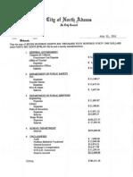 North Adams 2011 Budget Adjustments