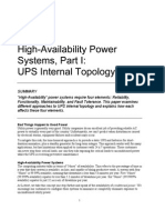 High-Availability Power Systems_ Part I_UPS Internal Topology