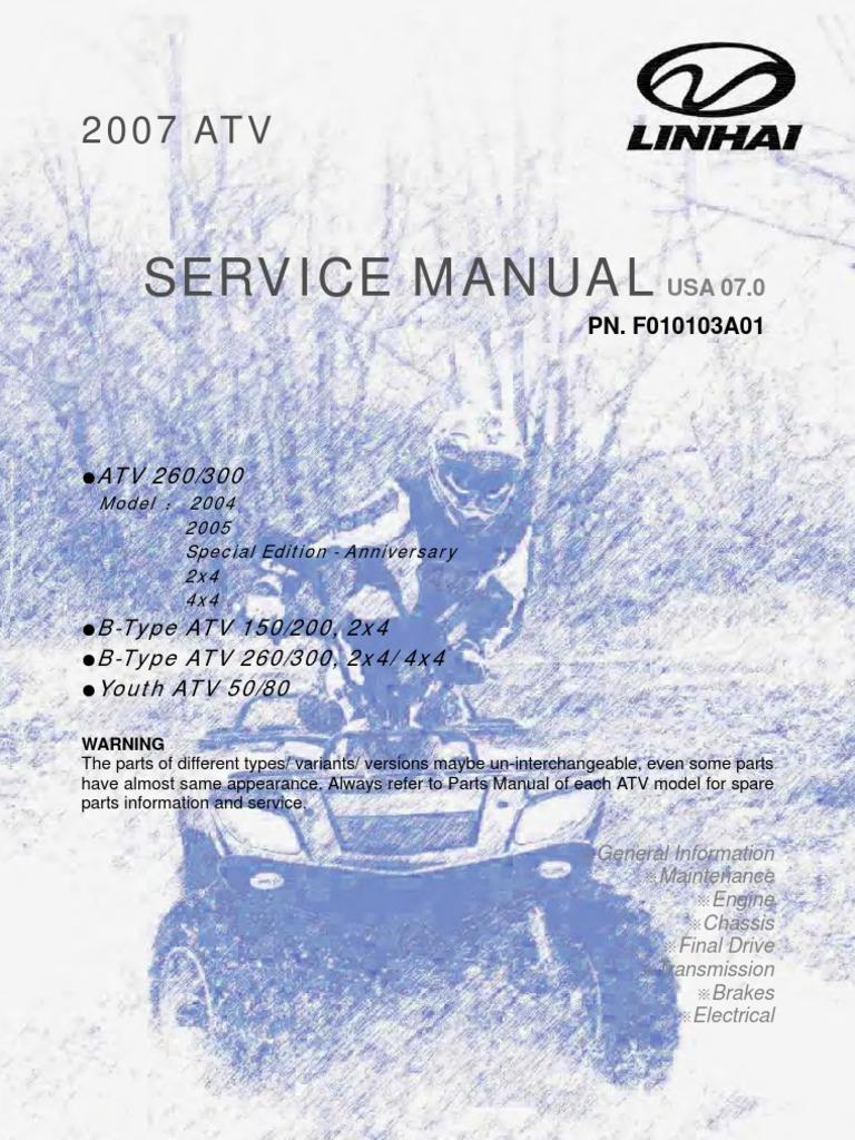 Linhai+ATV+Engine+Service+Manual+(Up+to+300cc)[1] | Tire