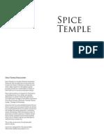 Spice Temple Sydney Main Menu