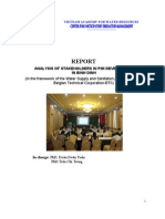 Report - Analysis of Stakeholders in PIM Development in Binh Dinh Province