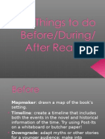 Things to Do Before Reading