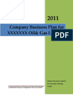 Business Plan Template for a Oil & Gas Company