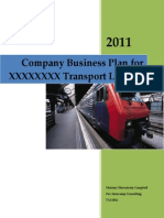 Business Plan Template for a Transport Company