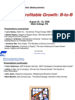 Driving Profitable Growth Aug06