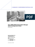Cisco MDS Fabric Manager Quick Reference Guide