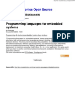 Programming Languages for Embedded Systems