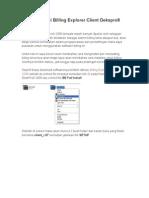 Cara Installasi Billing Explorer Client Dekspro6 2006
