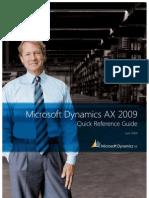 Microsoft Dynamics AX 2009 QRG