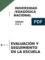 Ámbitos de Evaluación en los Centros Educativos.