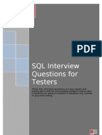 SQL Interview Questions for Software Testers